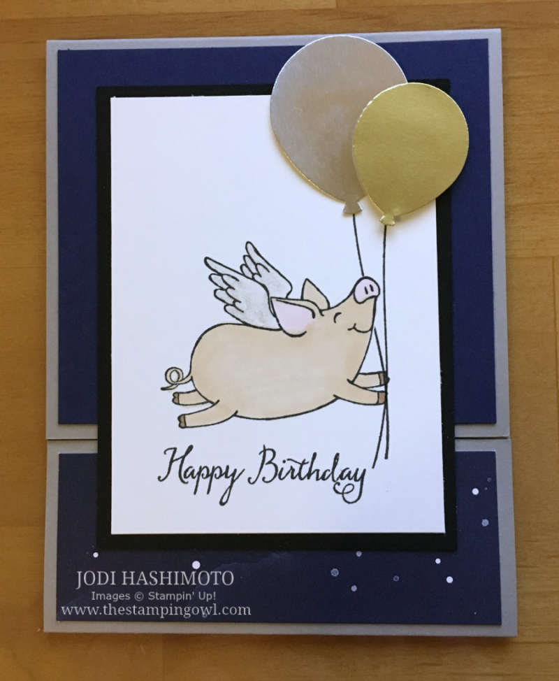 20180915 Flying pig birthday card