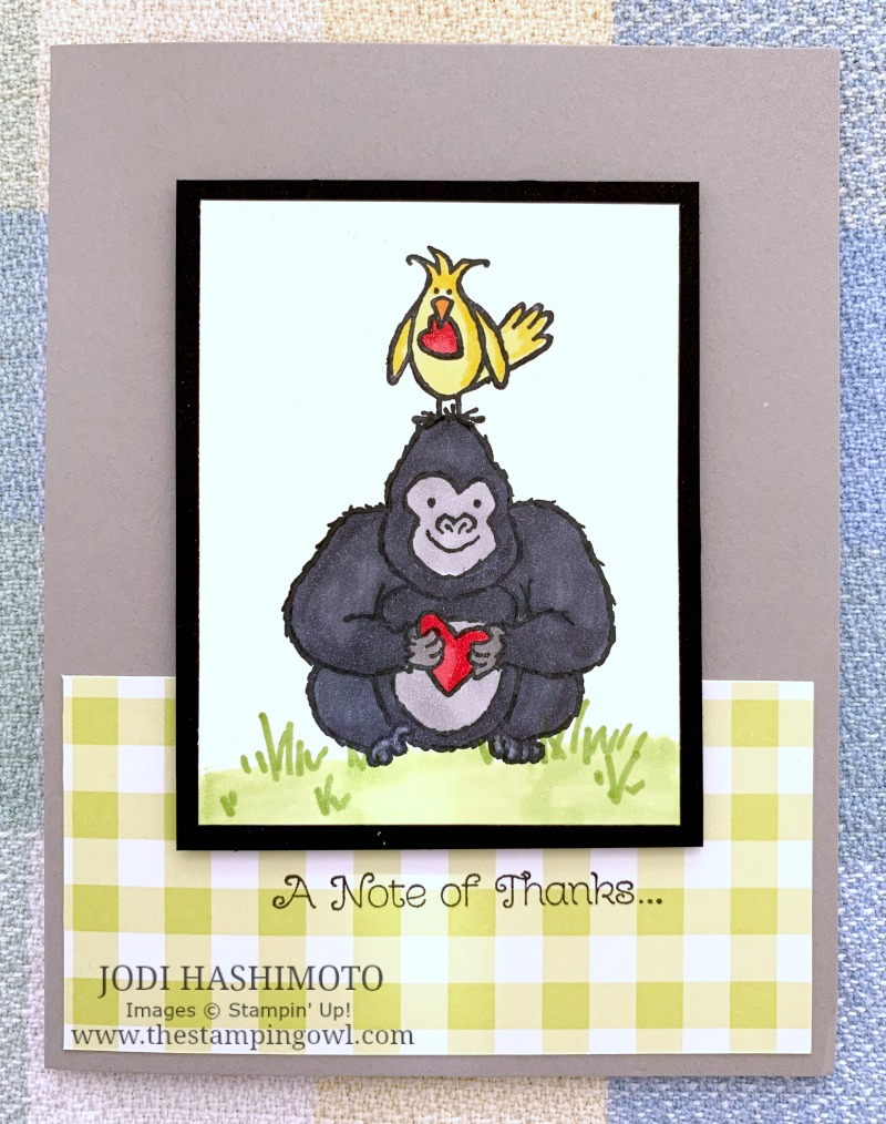 20190119 Gorilla and bird card