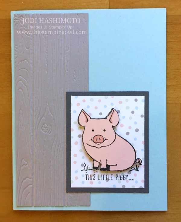 20180915 This lilttle piggy card