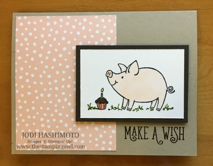 20180915 Pig and cupcake birthday card