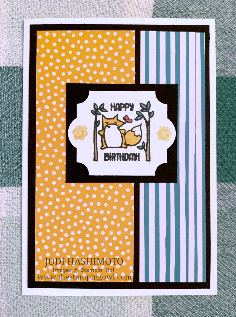 20190222 Fox birthday card