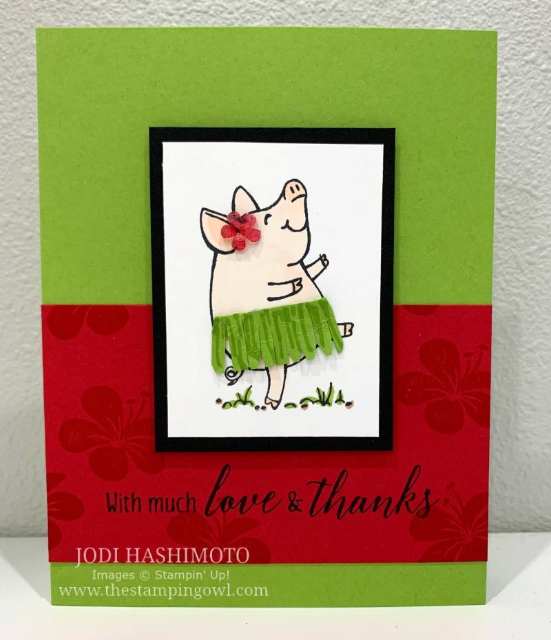 20190720 Pig Hula card