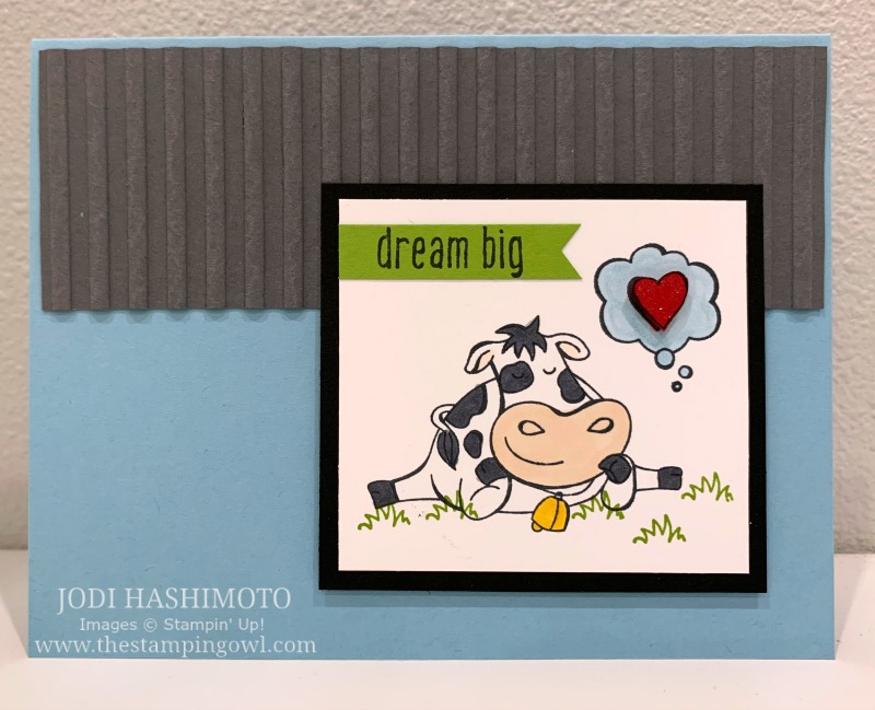 20190720 Dreaming cow card