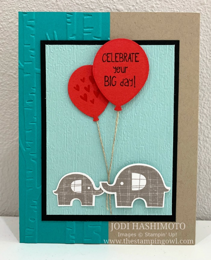 20190623 Elephants and balloons card