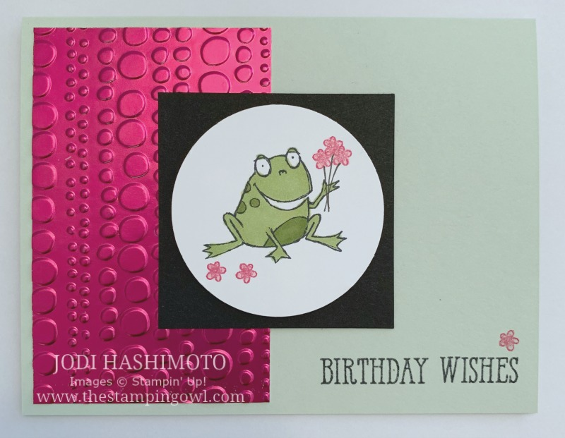 20190316 Frog with flowers card