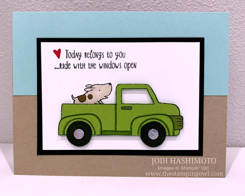 20190720 Truck with dog card