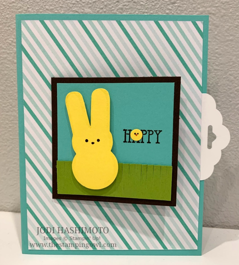 20190427 Peeps bunny flip card