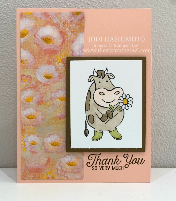 20190623 Cow with daisy card