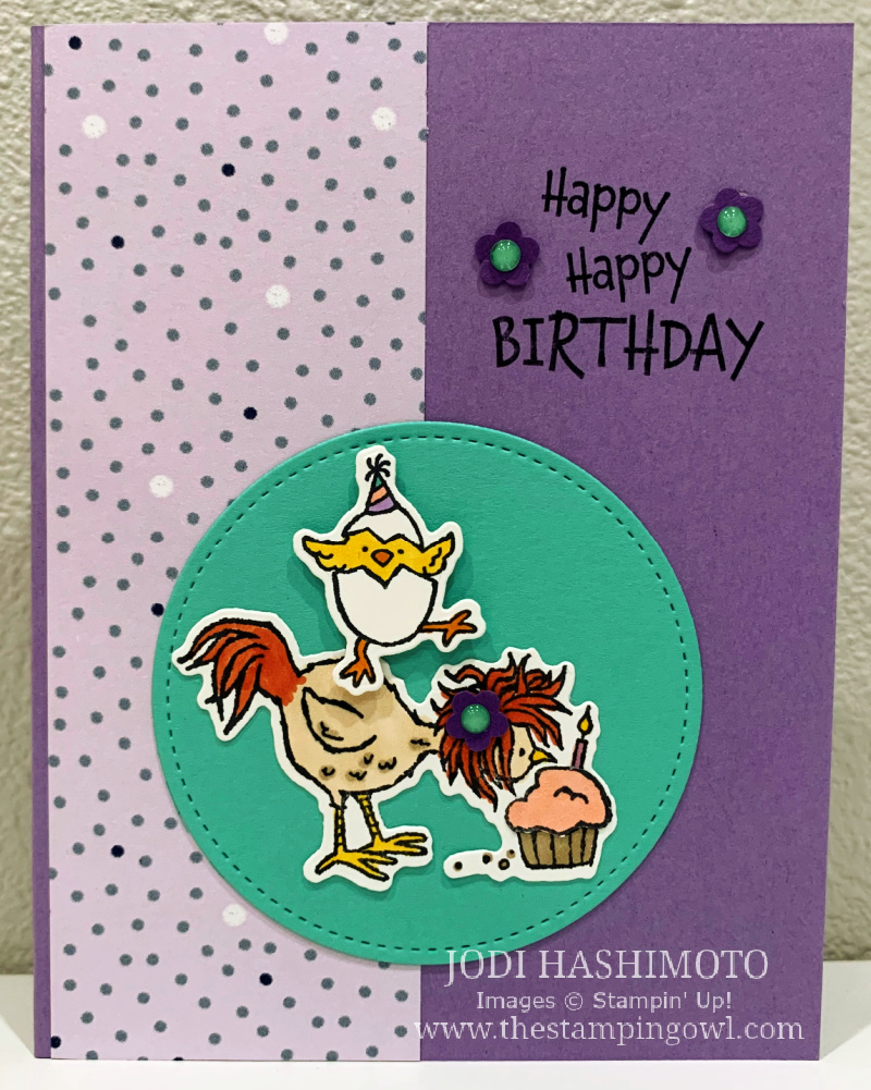20210417 Chickens with cupcake card