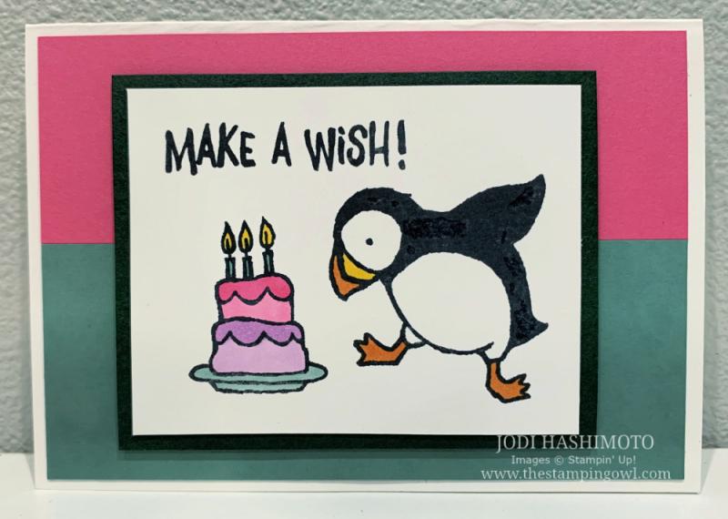 20210508 Make a Wish Puffin card