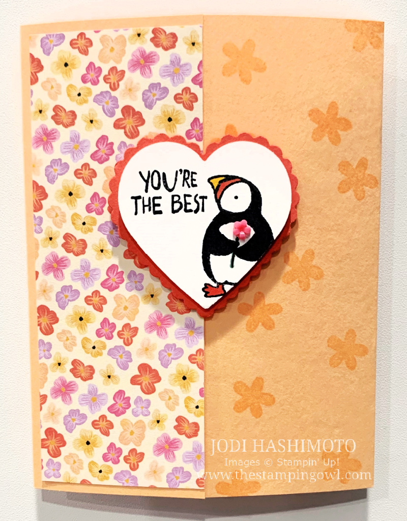 20210522 Heart Puffin Card